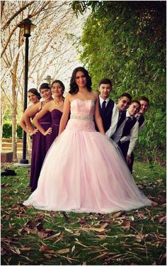 Quinceanera court group photo