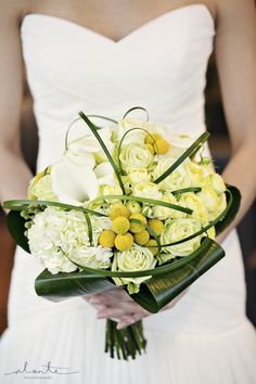 Yellow wedding bouquet from Ravenna Bloom in Seattle
