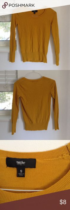 Mossimo sweater Mossimo mustard-yellow sweater. Slight pilling Mossimo Supply Co Sweaters Crew & Scoop Necks