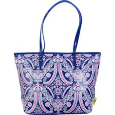 Amy Butler Sweet Bliss Carryall - Filagree/Navy - Totes ($80) ❤ liked on Polyvore featuring bags, handbags, tote bags, blue, manmade handbags, purse tote, tote handbags, blue tote bag, tote purses and navy blue tote