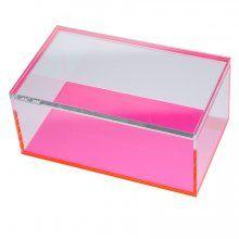 Acrylic Neon Block Storage Box