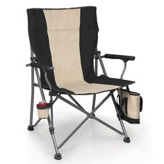 Outdoor Picnic Time Big Bear Camp Chair, Black