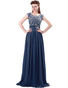Grace Karin Women's Chiffon Beaded Elegant Evening Wedding Dresses at Amazon Women's Clothing store: