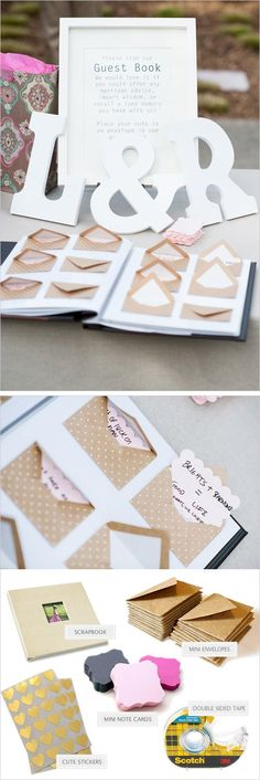 Don't pre-tape envelope, ask ppl to sign envelope and leave wishes or something for bucket list or other =guestbook + notes for us to read later. Tell ppl they can put more than one note in their envelope if the wish Wedding Guest Book, Diy Wedding, Wedding Favors, Rustic Wedding, Wedding Gifts, Dream Wedding, Wedding Decorations, Wedding Invitations, Wedding Day