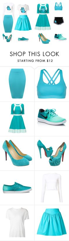 """""""Jane Crocker"""" by dodgeabby ❤ liked on Polyvore featuring WearAll, Lattori, NIKE, Christian Louboutin, Vans, Proenza Schouler, R13 and Moschino"""
