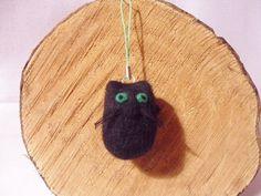 Needle Felted Cat  Halloween Decoration by feltindevon