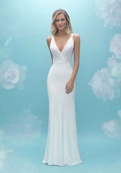 This sleek skirt features gorgeous translucent lace panels along the train.  Bodice Wedding Dress b6b4b6f91a72