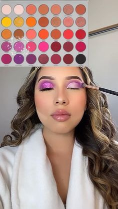 Purple Makeup Looks, Makeup Eye Looks, Pretty Eye Makeup, Purple Eye Makeup, Spring Eye Makeup, Bridal Eye Makeup, Halo Eye Makeup, Creative Eye Makeup, Colorful Eye Makeup