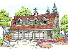This would look lovely shingled. And den would deb made into a Master Closet. Carriage House Plans, Dream House Plans, Small House Plans, House Floor Plans, My Dream Home, Garage Apartment Plans, Garage Apartments, Garage Plans, Garage Ideas