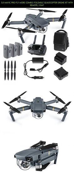 DJI Mavic PRO FLY MORE COMBO: Foldable Quadcopter Drone Kit with Remote, 3 Bat #pro #shopping #camera #products #parts #kit #mavic #kit #plans #combo #technology #fpv #tech #racing #drone #gadgets #phantom3droneproducts #dronetechnology
