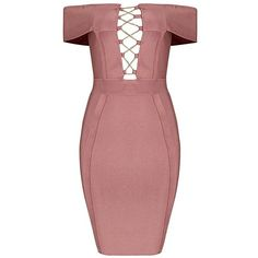 Sia Bandage Dress ($198) ❤ liked on Polyvore featuring dresses, bodycon two piece, red bandage dress, 2 piece dress, red dresses and 2 piece bandage dress