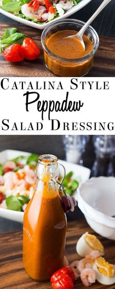 Savor all the flavors of this French inspired recipe from Erren's Kitchen for Catalina Style Peppadew Salad Dressing. This tangy and sweet homemade dressing is Catalina style dressing with a twist. Sweet Salad Dressings, Salad Dressing Recipes, Sauce Recipes, Cooking Recipes, Cooking Tips, Peppadew Peppers, Dips, Sauces, Marinade Sauce