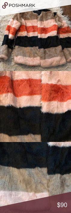 Multicolor zara faux fur coat Multicolor zara faux fur coat Zara Jackets & Coats