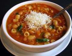 Stacy's Pasta Fagioli (Sicilian) Recipe - Yummy this dish is very delicous. Let's make Stacy's Pasta Fagioli (Sicilian) in your home! Hearty Vegetarian Soup, Vegetarian Recipes, Healthy Recipes, Pasta Fagioli Recipe Vegetarian, Pasta E Fagioli Soup, Pasta Soup, Ham Pasta, Turkey Pasta, Garlic Pasta