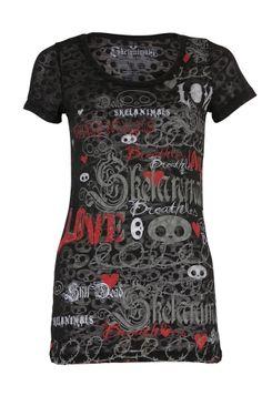 Skelanimals Vacancy Skull Burnout Women's T-Shirt