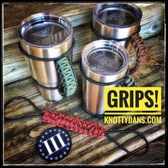 Get a GRIPS! On that big ass tumbler #grips #makeparacordgreatagain #yetitumbler #ozarktrail #rtictumbler #paracord and if you want to ever get it on sale you better get on the insider insider.knottydans.com