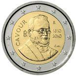 2 euro 200th anniversary of birth of Camillo Benso - 2010 - Series: Commemorative 2 euro coins - Italy