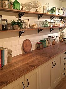 Reclaimed Scaffold Worktops — Dove Furniture & Kitchens York