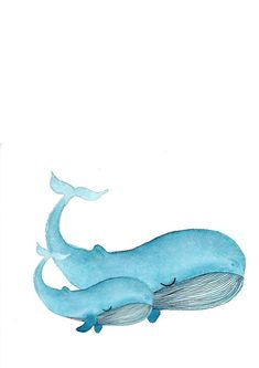Watercolor whale / whale Source by kathhollo Whale Drawing, Whale Painting, Watercolor Whale, Easy Watercolor, Watercolor Animals, Watercolor Illustration, Watercolor Paintings, Watercolour, Animal Sketches