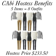 """CAbi Hostess Benefits"" by am-prettyinink on Polyvore. Get your favorite pieces at 50% off when you host a CAbi party!"