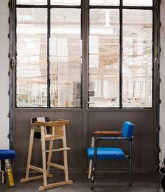Ein »Scrapwood« Kinderstuhl Und Ein Sogenannter »Design Of Pipe«Stuhl.