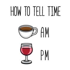How to tell time. Haha!