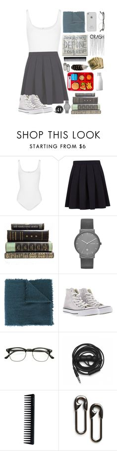 """School eh ♡♡"" by colphi ❤ liked on Polyvore featuring Wolford, George, Skagen, Faliero Sarti, Converse, Urbanears, GHD and MANGO"