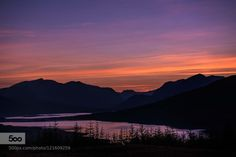 Beautiful evening in Scotland by annie7  forest mountains night scotland sky sunset travel trees Beautiful evening in Scotland annie7