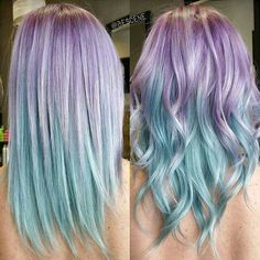 Pastel mermaid hair!