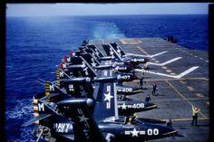 USS Essex CVA-9 flight ops in 1955