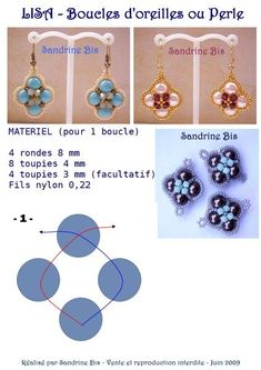 Pattern bijoux: Orecchini Lisa