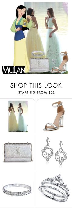 """Disney Princess Inspired Prom/Matric Dance Dress: Mulan"" by salomemonametsi ❤ liked on Polyvore featuring Sherri Hill, Yves Saint Laurent, Carolee, Unwritten, Prom, Disneyprincess, mulan and matric"