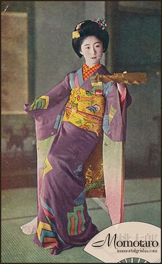 Exploited child, however famous. Japanese Geisha, Japanese Kimono, Vintage Japanese, Japanese Art, Chinese Culture, Japanese Culture, Taisho Era, Taisho Period, Vintage Photos
