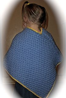 Loom knit child's poncho. Easy. free pattern download.