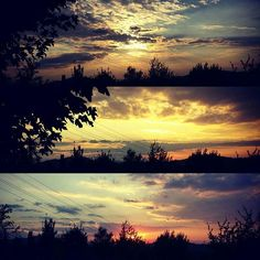 Same #sunset, same #pointofview, different #times. #landscape #sky #clouds #amazing #colours #tramonto #collibolognesi #Bologna ph. Jessica Vancini