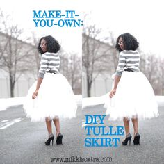 "Make-It-Your-Own: Tulle Skirt (No-Sew Method)---I want to make this (just a tad bit shorter) so I can finally have that one Taylor Swift ""dress"" from her tour"