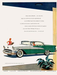 1955 Oldsmobile Ninety-Eight Deluxe Holiday Sedan
