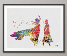 Hey, I found this really awesome Etsy listing at https://www.etsy.com/listing/179502980/queen-elsa-and-anna-watercolor