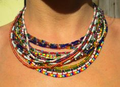 Seed Bead Necklaces - Inspiration only