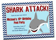 pool party invitation shark invitation for pool party printable