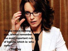 Tina Fey on beauty