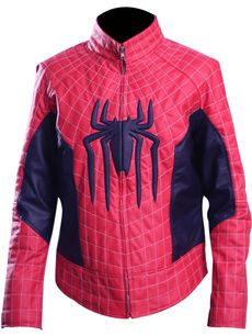 Leather Vest, Real Leather, Denim Jacket Patches, Motorcycle Vest, Collar Styles, Satin Fabric, Red And Blue, Spiderman, Lindsey Morgan