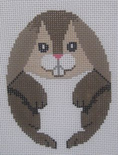 Handpainted Needlepoint Canvas Susan Roberts Easter Egg Bunny 489 #SusanRoberts