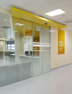 National University Hospital Signage System by Brandy Du, via Behance - good space transition through ceiling materials