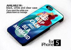 AJ 184 Keep Calm & Be a Mermaid - iPhone 5 Case
