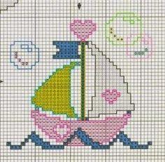 Tiny Cross Stitch, Baby Cross Stitch Patterns, Cross Stitch For Kids, Cross Stitch Cards, Cross Stitch Designs, Cross Stitching, Cross Stitch Embroidery, Baby Cardigan Knitting Pattern Free, Baby Knitting
