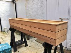 Bespoke Cedar planter made to order