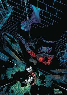 Spiderman vs. Venom by Angel Medina