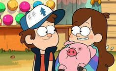 6 things we learned about 'Gravity Falls' at New York Comic-Con - New York Comic-Con: Gravity Falls creator Alex Hirsch talks about his show's devoted fanbase Infor - Gravity Falls Dipper, Dipper Und Mabel, Mabel Pines, Gravity Falls Personajes, Monster Falls, Desenhos Gravity Falls, Happy Cartoon, Cartoon Town, Disney On Ice