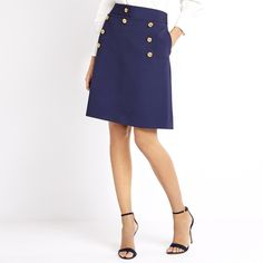 The nautical-chic gold buttons are one thing, but the body-flattering, leg-elongating A-line silhouette and luxuriously soft pure-virgin-wool are what make...